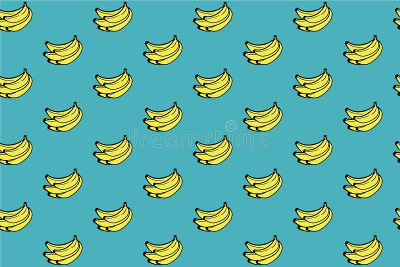 Bakgrund för bananmodellblått royaltyfria foton
