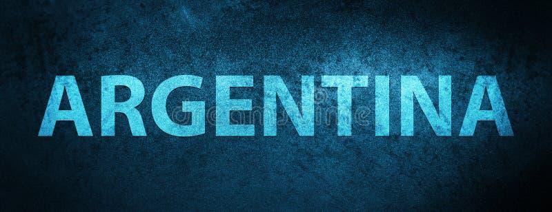 Bakgrund för baner för Argentina sakkunnigblått vektor illustrationer
