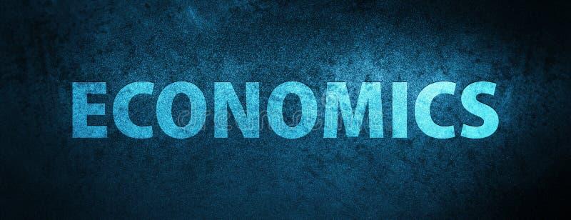 Bakgrund för baner för nationalekonomisakkunnigblått royaltyfri illustrationer