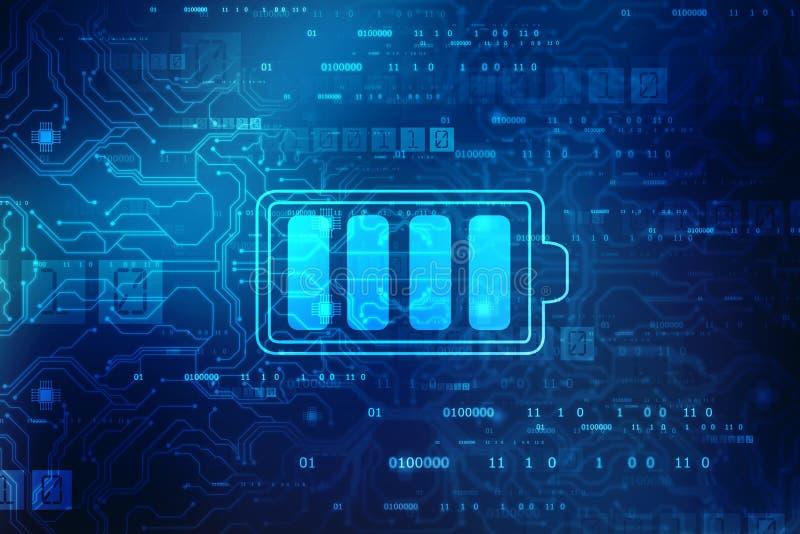 Bakgrund för begrepp för batteritillförsel, begrepp för energieffektivitet arkivfoton
