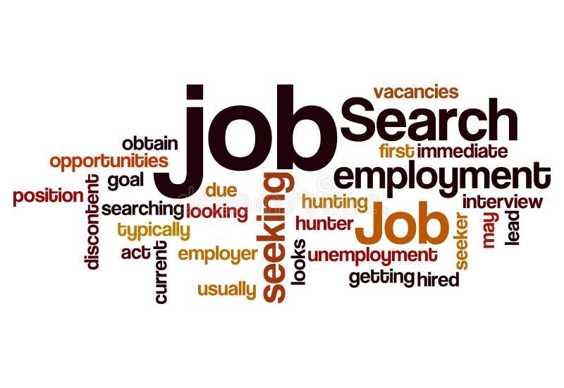 Bakgrund för begrepp för anställning för jobbsökande sökande vektor illustrationer
