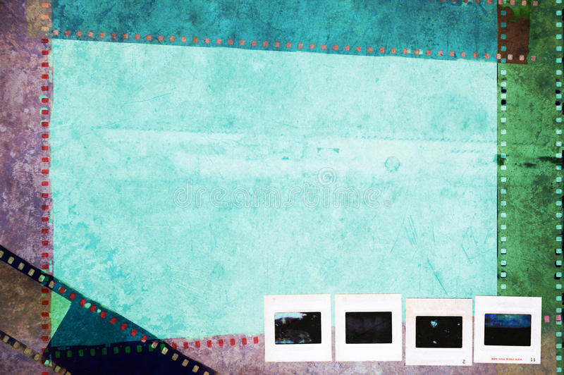 Bakgrund för begrepp för tappninggrunge fotografisk stock illustrationer