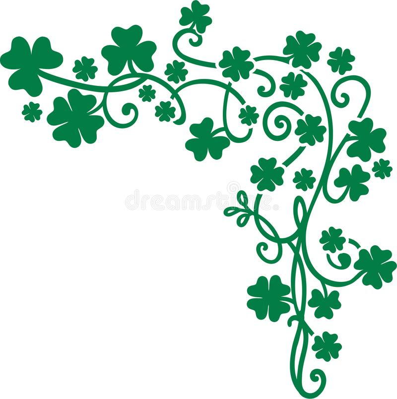Bakgrund för beståndsdelar för vektor för dag för St Patrick ` s royaltyfri illustrationer