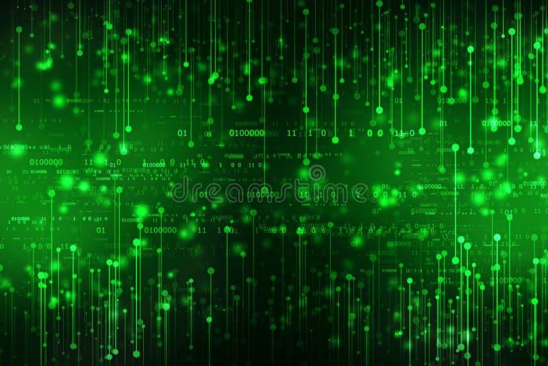 Bakgrund för binär kod, Digital abstrakt teknologibakgrund royaltyfri foto