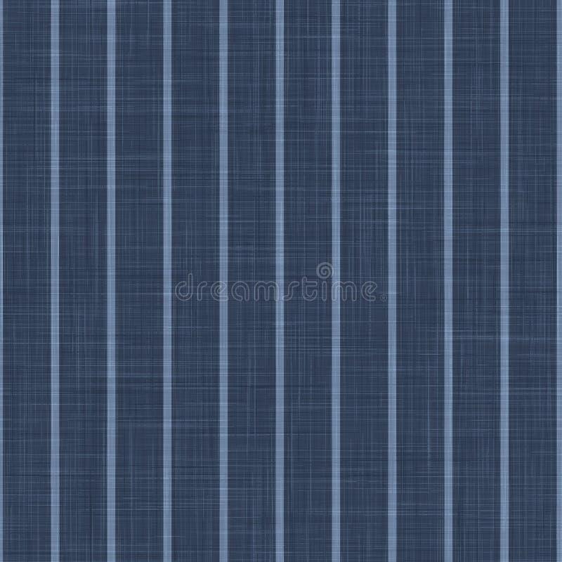 Bakgrund för blå kambray Pinstripe-textur Klassiskt mönster för fördiskning, sömlös Stäng Weave Suit Fabric i Denim fotografering för bildbyråer