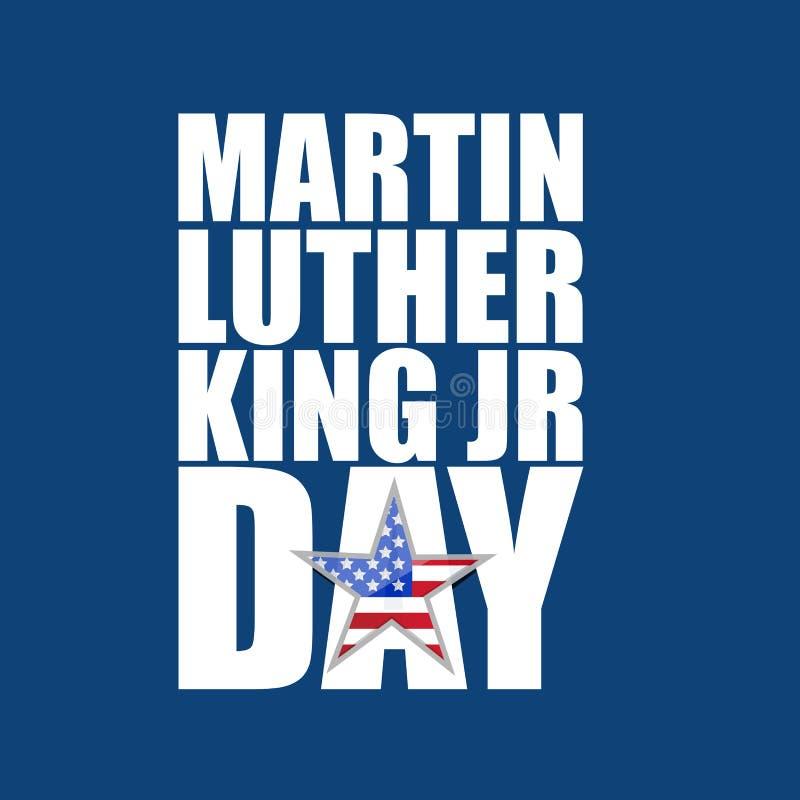 Bakgrund för blått för tecken för Martin Luther King JRdag vektor illustrationer