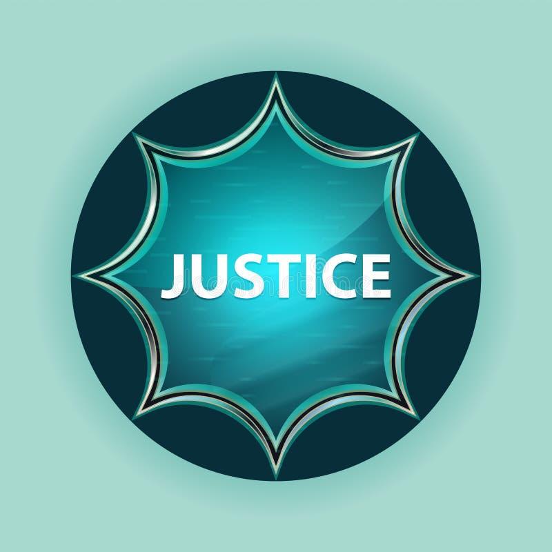 Bakgrund för blått för himmel för knapp för magisk glas- sunburst för rättvisa blå stock illustrationer