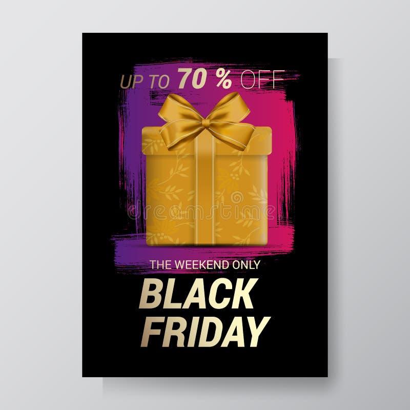 Bakgrund för Black Friday försäljningsabstrakt begrepp Vektorreklamblad med trenddesign också vektor för coreldrawillustration 10 stock illustrationer