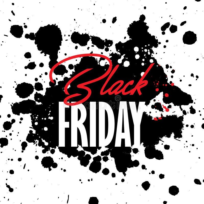 Bakgrund för Black Friday grungeförsäljning vektor illustrationer