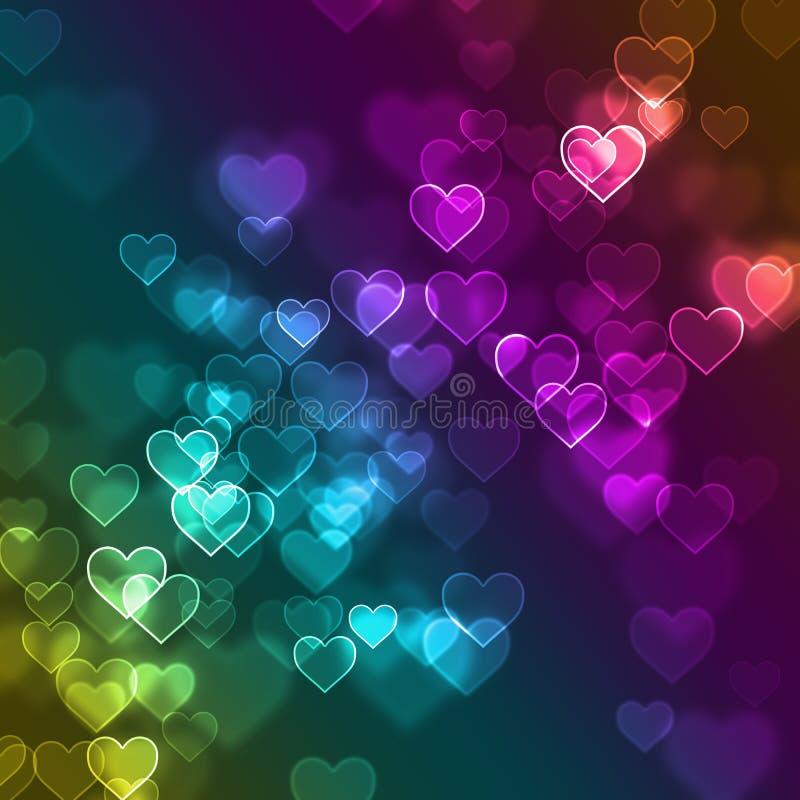 Bakgrund för bokeh för förälskelsehjärta defocused royaltyfri foto