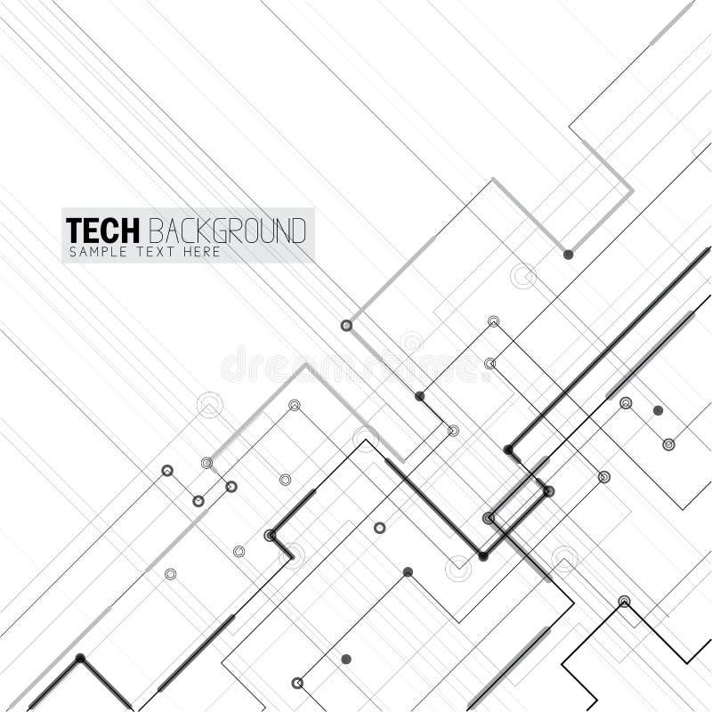 Bakgrund för bräde för strömkrets för vektorillustrationabstrakt begrepp futuristisk royaltyfri illustrationer