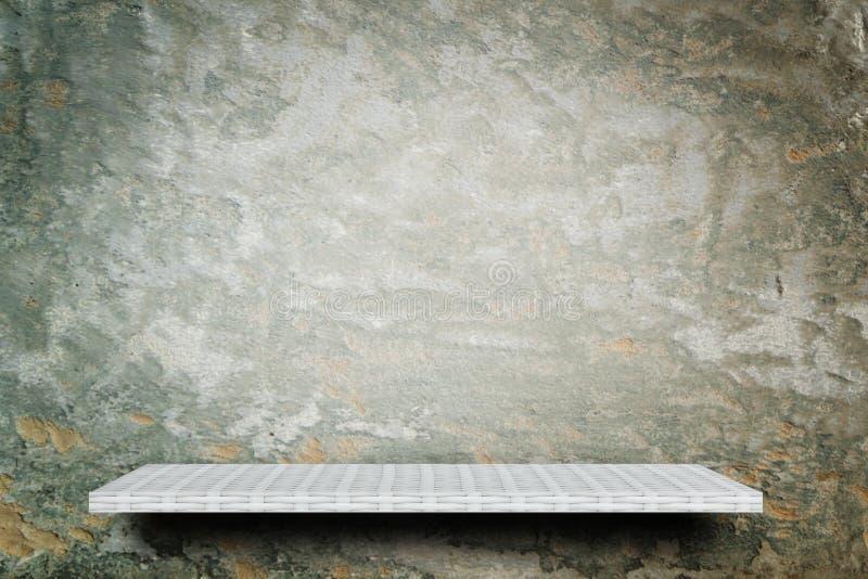 Bakgrund för cement för grunge för vävarehyllaräknare arkivfoto