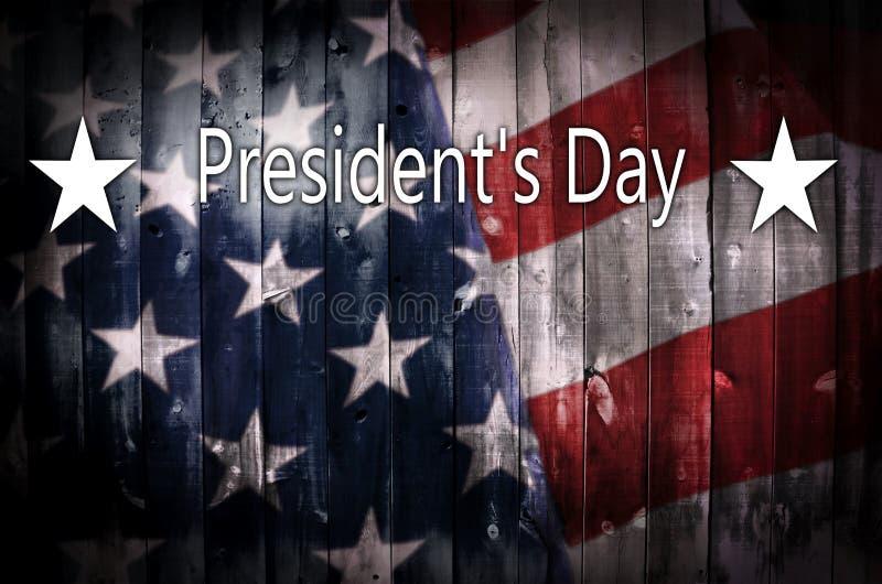 Bakgrund för dag för president_ s på trä royaltyfri fotografi