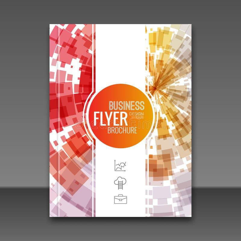 Bakgrund för design för reklamblad för prospekt för räkningsrapport färgrik geometrisk, räkningsreklambladmall, tidskrift, brosch stock illustrationer