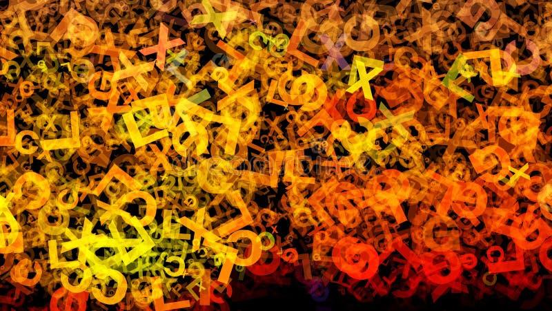 Bakgrund för design för grafik för illustration för gul orange organismbakgrund härlig elegant stock illustrationer