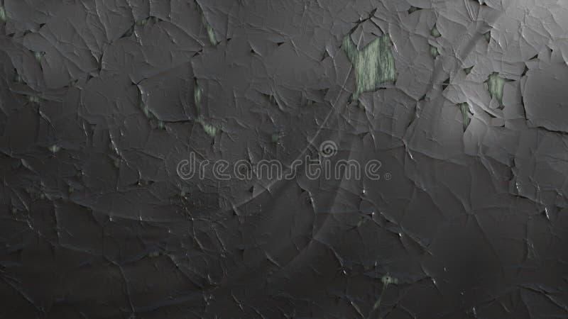 Bakgrund för design för grafik för illustration för mörk Grey Grunge Cracked Wall Background bild härlig elegant vektor illustrationer