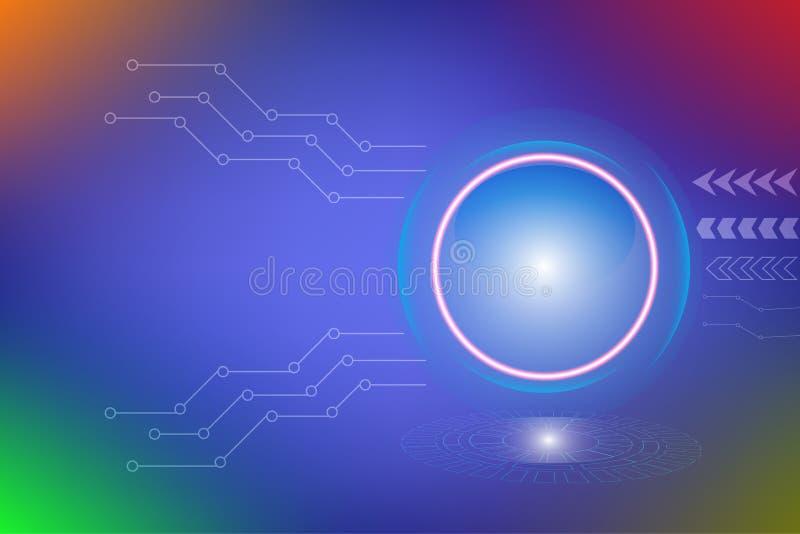 Bakgrund för design för kommunikation för information om data för hastighetsanslutningsbegrepp vektor illustrationer