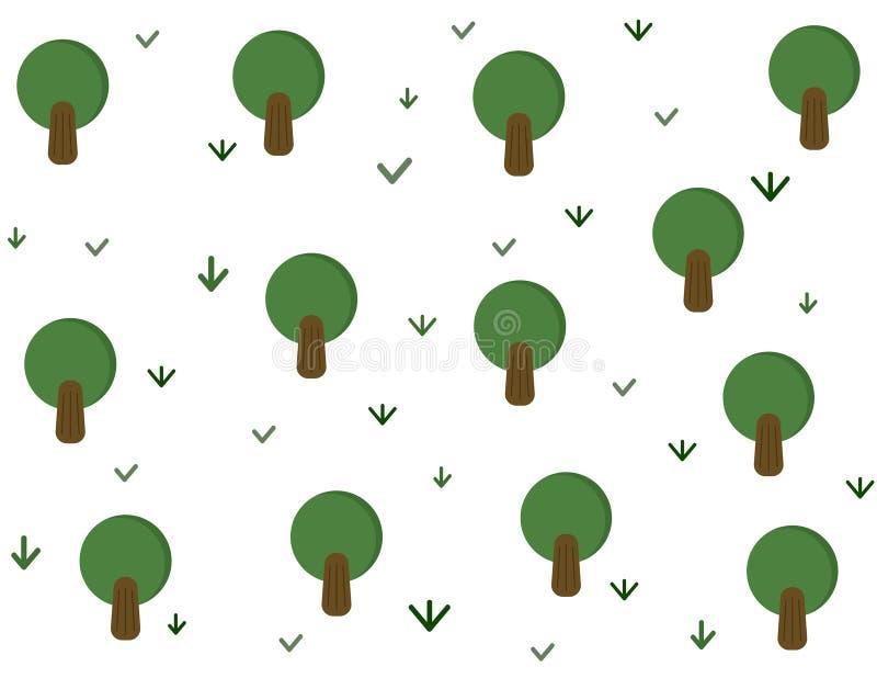 Bakgrund för design för trädmodellvektor royaltyfri illustrationer