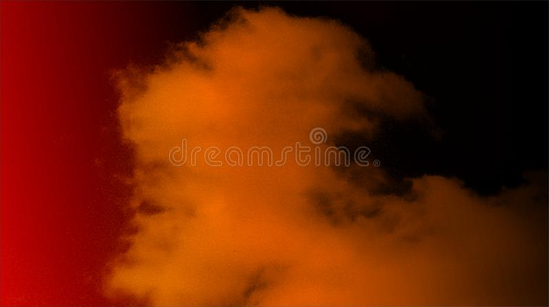 Bakgrund för dimma för abstrakta svarta orange för färgblandning mång- effekter för färger rökig royaltyfria foton