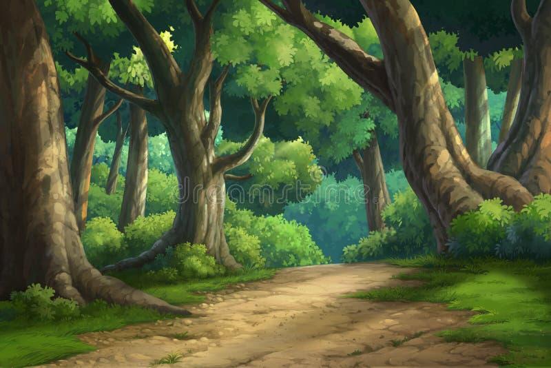 Bakgrund för djungel och naturligt royaltyfri illustrationer