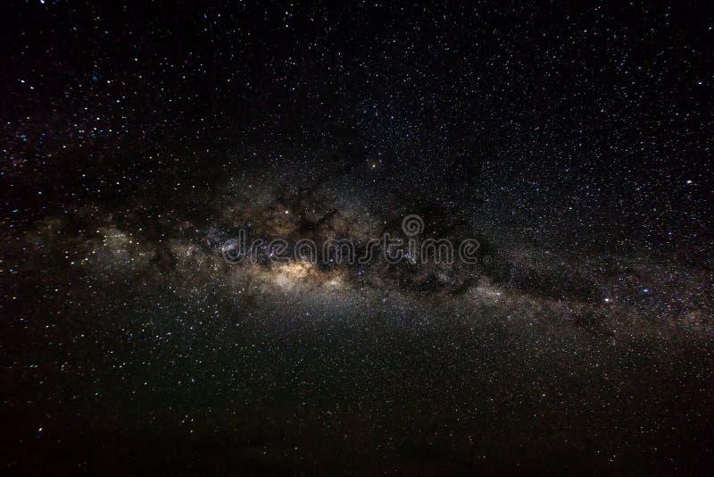 Bakgrund för djupt utrymme med stardust och den glänsande stjärnan Vintergatan arkivfoton