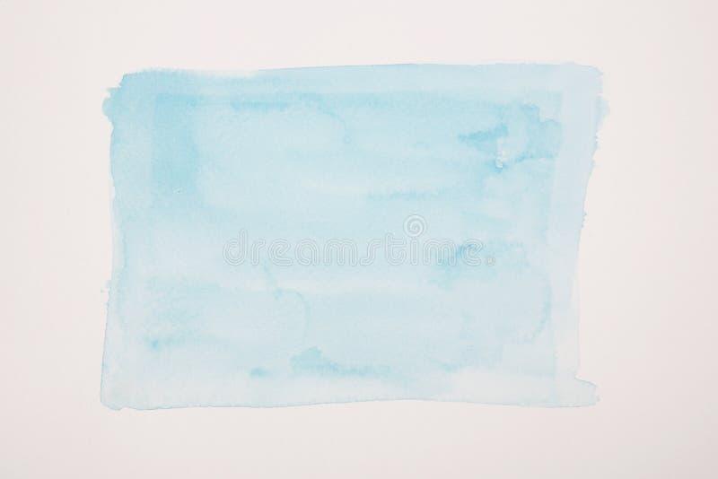 Bakgrund för färg för blått vatten målad royaltyfri illustrationer
