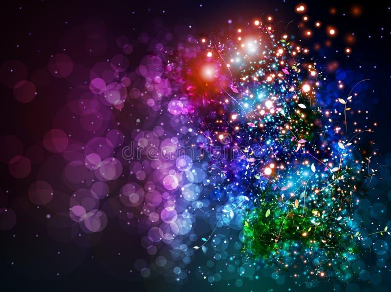 Bakgrund för färg för belysningeffekt royaltyfri illustrationer