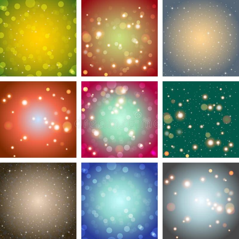 Bakgrund för färg för suddighetsbokehabstrakt begrepp ljus stock illustrationer