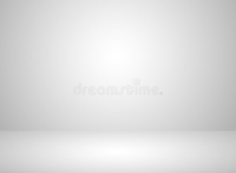 Bakgrund för färg för studiorum inre vit med belysningeffekt vektor illustrationer