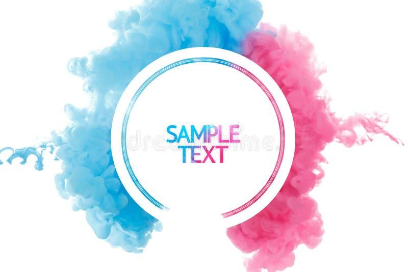 Bakgrund för färgmålarfärgfärgstänk, vätskeisolerat molnfärgpulverabstrakt begrepp stock illustrationer