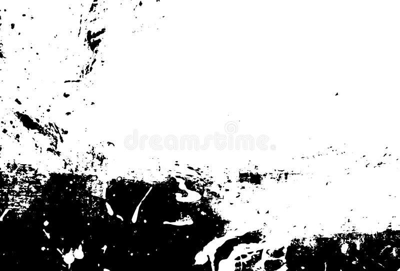Bakgrund för färgpulvertrycknödläge Grunge textur Abstrakt svartvit illustration vektor royaltyfri bild