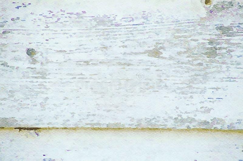 Bakgrund för ferie för vattenfärgmålninggrunge av gamla träplankor arkivfoton