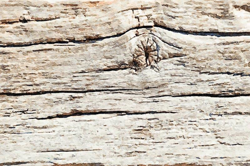 Bakgrund för ferie för vattenfärgmålninggrunge av gamla träplankor arkivbild