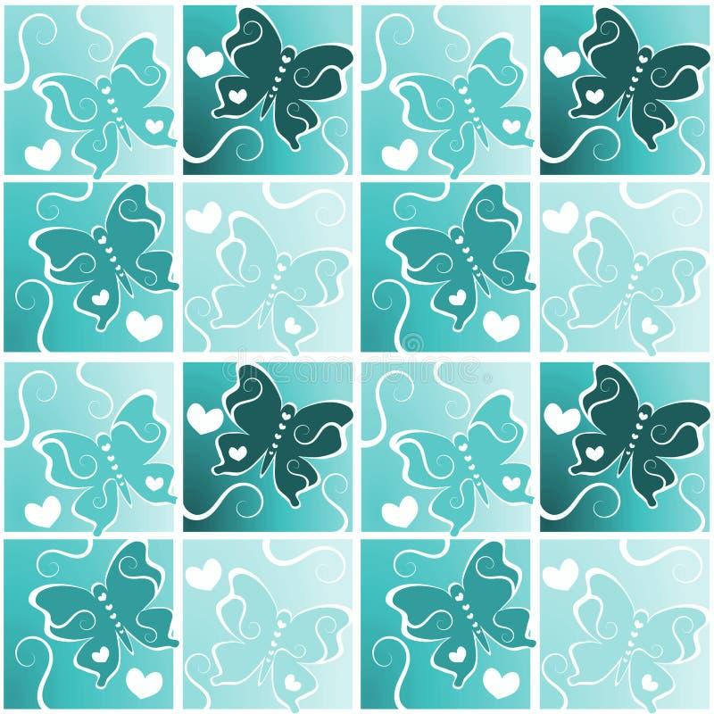 Bakgrund för fjärilshjärtamodell stock illustrationer