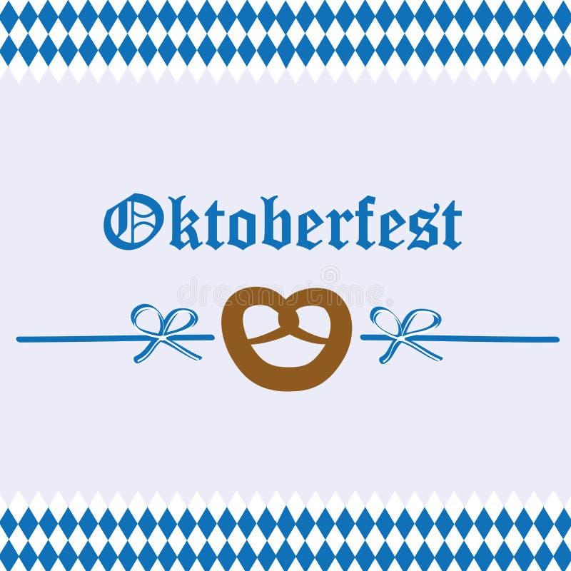 Bakgrund för flagga för bavaria för Oktoberfest berömkringla royaltyfri illustrationer