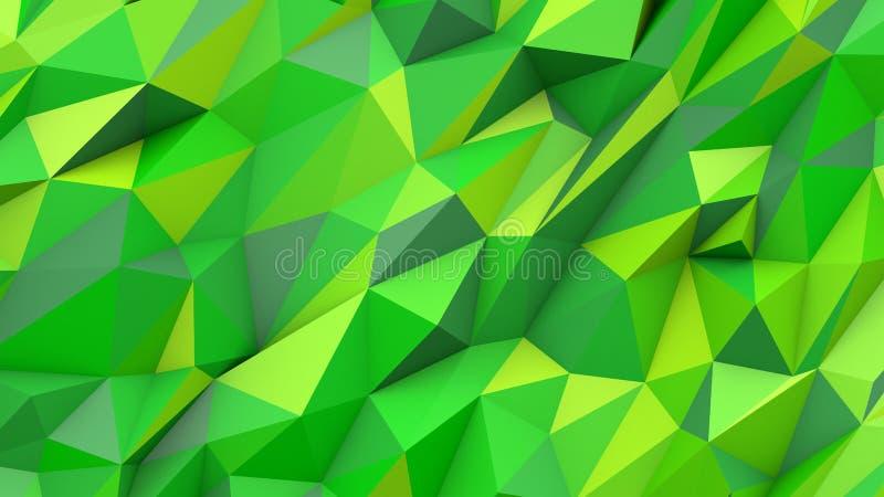 Bakgrund för form för gröna färger för limefruktabstrakt begrepptrianglar poly geometrisk vektor illustrationer