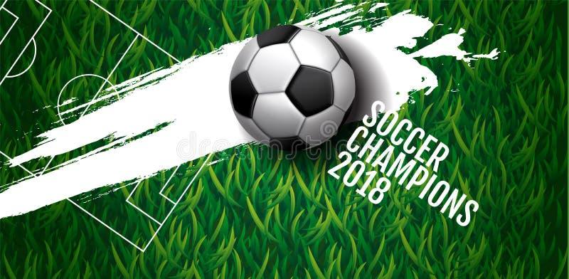 Bakgrund för fotbollmästerskapkopp, fotboll, Ryssland 2018, vect vektor illustrationer