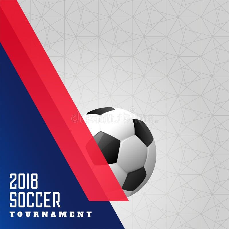 Bakgrund 2018 för fotbollmästerskapsportar royaltyfri illustrationer