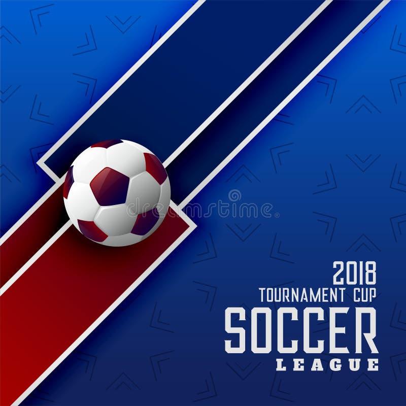 Bakgrund för fotbollturneringsportar med fotboll royaltyfri illustrationer