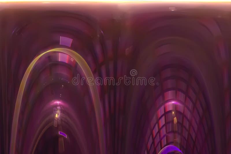 Bakgrund för fractal för färg för idérik makt för abstrakt vetenskap vibrerande magisk stock illustrationer