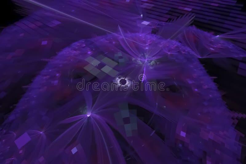 Bakgrund för fractal för samkopiering för abstrakt vetenskap idérik vibrerande royaltyfri illustrationer