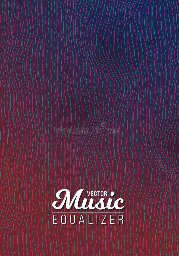 Bakgrund för frekvens för musikpulsljudsignal royaltyfri illustrationer