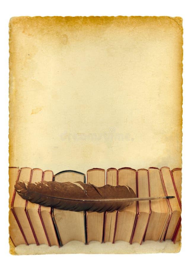 Bakgrund för gammala böcker royaltyfri foto