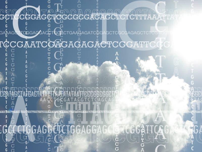 Bakgrund för genetik royaltyfria foton