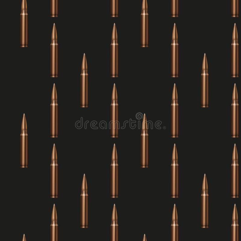 Bakgrund för gevärkulmodell vektor illustrationer