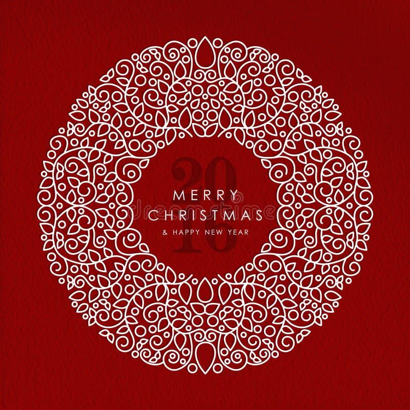 Bakgrund 2016 för glad jul och för lyckligt nytt år royaltyfri illustrationer