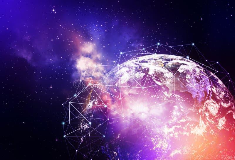 Bakgrund för globalt nätverk arkivbilder