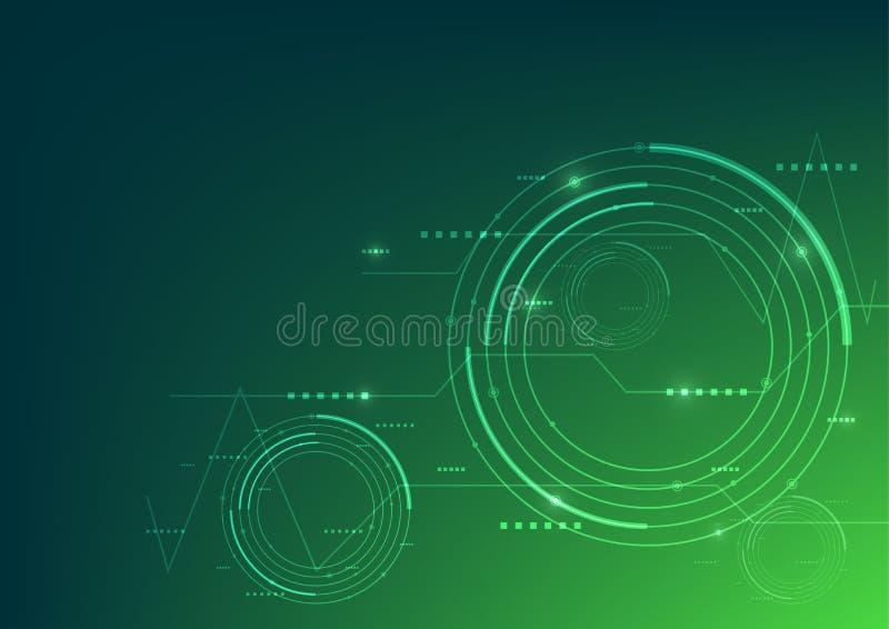 Bakgrund för grön färg för vektorillustrationteknologi fotografering för bildbyråer