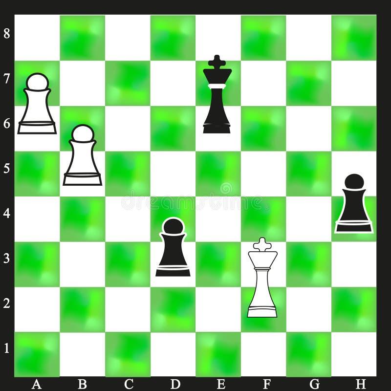 Bakgrund för grön schackbräde för vit härlig vektor illustrationer