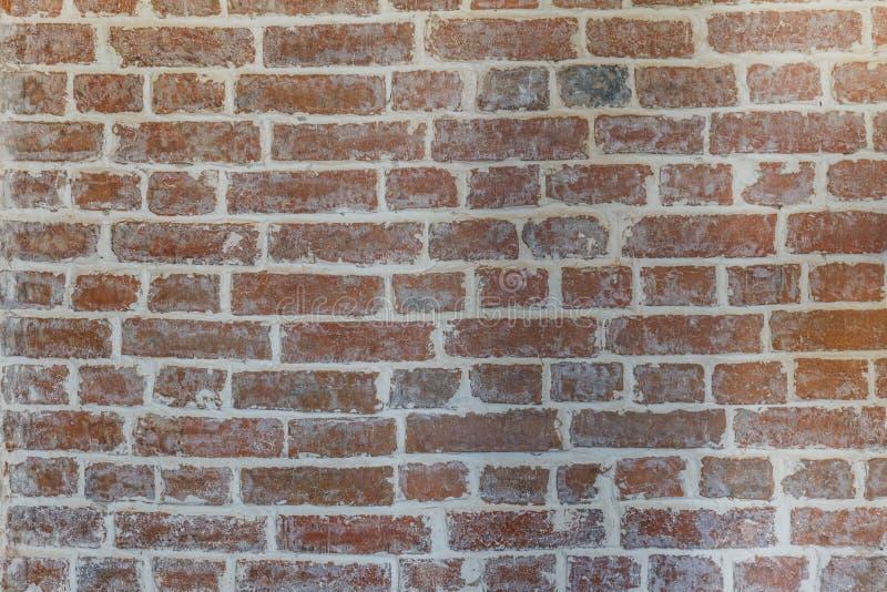 Bakgrund för grunge för textur för väggen för röd tegelsten med vignetted hörn, kan använda till inredesignen royaltyfri foto